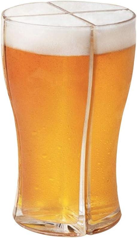 NSSTAR Jarra de Cerveza Acrílica 4 en 1, 400-500 Ml Jarras de Cerveza Reutilizables Taza de Pinta Grande Jarra para Beber Recipiente de Cerveza para El Hogar Fiesta de Cumpleaños Accesorios