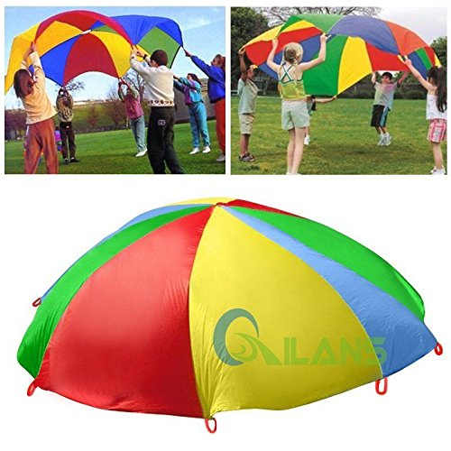 Vipasnam 3M Education Rainbow Umbrella For Kids Outdoor Sports Activity Group Game Toys