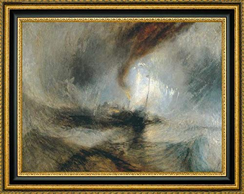 Snow Storm - Steam Boat Off a Harbours Mouth by William Turner - 22.25