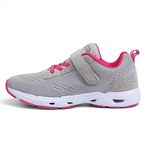 Eagsouni Baskets Running Chaussures de Course Sports Fitness Gym Athlétique Homme Femme Sneakers Gris-rouge oNQZlU3N