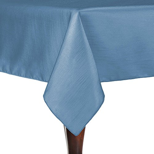 Ultimate Textile (45 Pack) Reversible Shantung Satin - Majestic 72 x 72-Inch Square Tablecloth - for Weddings, Home Parties and Special Event use, Periwinkle Blue by Ultimate Textile
