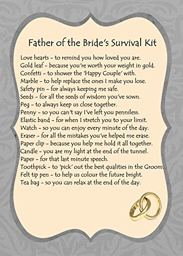 FATHER OF THE BRIDE SURVIVAL KIT GIFT: Amazon.co.uk: Kitchen & Home