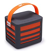 Proxelle Surgepower-Orange Portable Wireless Bluetooth Speaker with Built-in Power Bank Plus 2 USB Ports, Get Epic Audio Wherever You Go, Orange