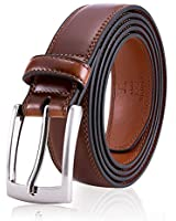 Brown Dress Leather Belts, Fashion & Classic Design for Dress and Causal (Size 32 (Waist 30), Burnt Umber)