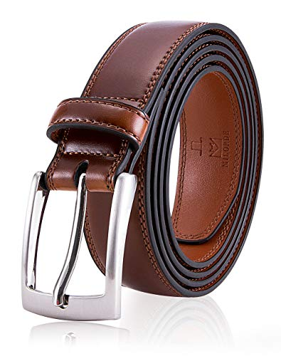 (Brown Belt for Men, Fashion & Classic Design for Dress and Causal (Size 36 (Waist 34), Burnt Umber))