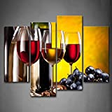 wine and grape art - Grape Wine With Cup Wall Art Painting The Picture Print On Canvas Food Pictures For Home Decor Decoration Gift