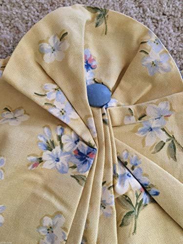 Pleated Button Valance - NWT WAVERLY Fontanelle Buttercream Juliet Valance 100% Cotton USA 46