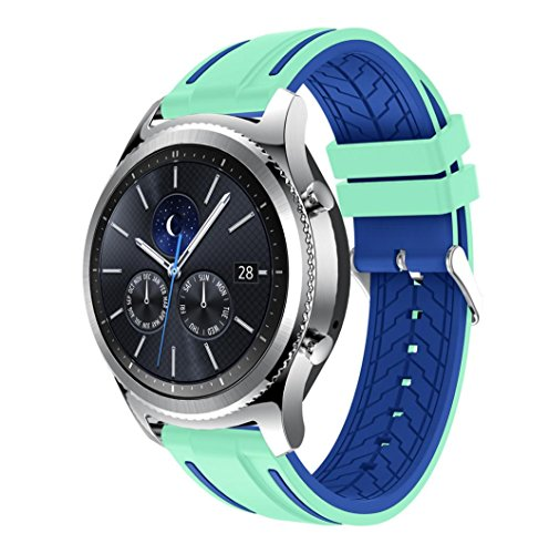 Price comparison product image For Samsung Gear S3 Classic, Outsta New Fashion Sports Silicone Bracelet Strap Band (E)