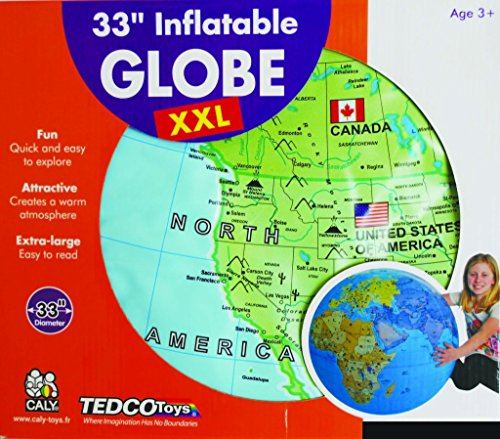 TEDCO XXL Inflatable Globe Ingenuity, Creativity, Analytical Skills ()