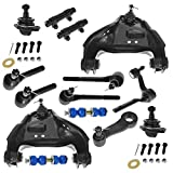 14 Piece Front Steering & Suspension Kit Control Arms Ball Joints Tie Rods for Chevy Blazer S10 S10 Pickup GMC Jimmy S-15 S-15 Sonoma Isuzu Hombre Oldsmobile Bravada