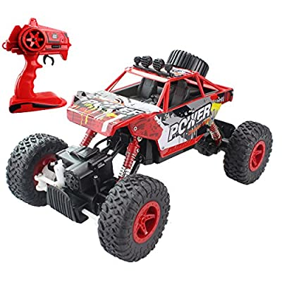 2.4G Rock Crawler RC Car 1:18 Off Road Vehicle 4 Wheel Drive High Speed Dune Buggy Remote Control Monster Truck With Chargeable Battery