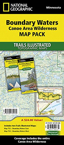 Boundary Waters Canoe Area Wilderness [Map Pack Bundle] (National Geographic Trails Illustrated Map)