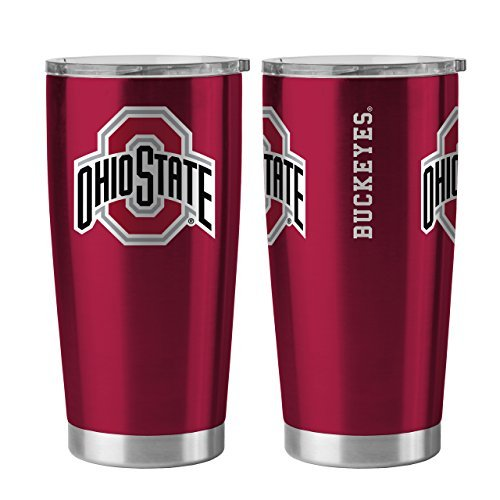 Ohio State Buckeyes 20 oz Ultra Stainless Steel Travel Tumbler by Boelter Sports