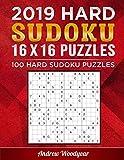 2019 Hard Sudoku 16 X 16 Puzzles: 100 Hard Sudoku Puzzles (2019 16 X 16 Hard Sudoku Puzzle Books For Adults)