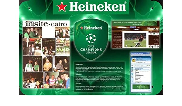 Heineken Beer: UEFA CHAMPIONS LEAGUE metal poster cartel ...