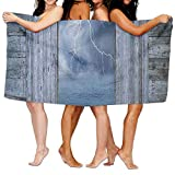 Haixia Colorful Bath Towels Beach/Bath/Pool Towel 51.2'' X 31.5'' Lake House Decor Lightning Bolt at Night from Window in A Seaside House Forces of Nature Theme Decor Full Blue Grey