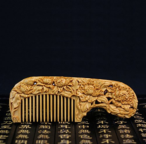 Amazon Com Wooden Comb Anti Static Fine Tooth Hair Comb For Women