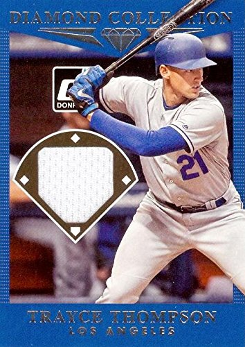 Autograph Warehouse 345113 Trayce Thompson Player Worn Jersey Patch Baseball Card - Los Angeles Dodgers 2017 Panini Diamond Collection No. DCTT