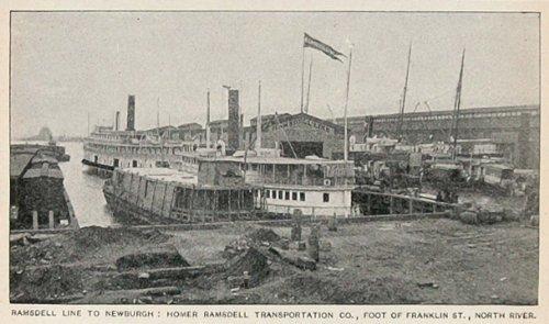Ramsdell Line (1893 Print Homer Ramsdell Line Hudson North River NYC - Original Halftone Print)