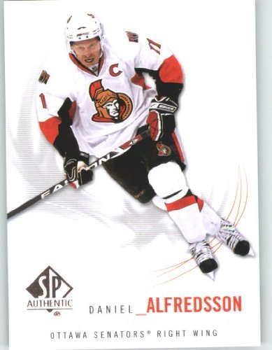 2009-10 (2010) Upper Deck SP Authentic Hockey Card # 95 Daniel Alfredsson - Senators - NHL Trading Card