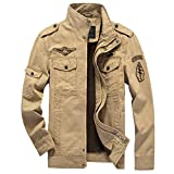 H.T.Niao Jacket8331C3 Men 's Military Fashion Cold Jackets(Khaki,Size M) offers