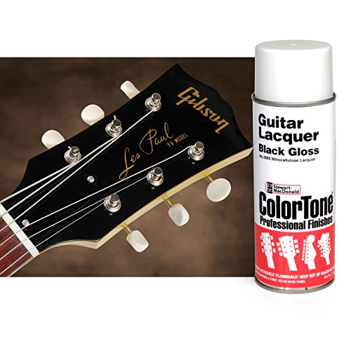 Lacquer Finish Black - ColorTone Black Aerosol Guitar Lacquer