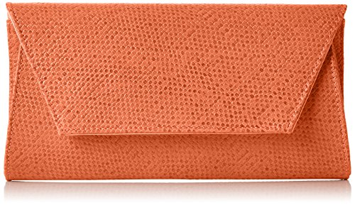 SwankySwans Women's Mischa Faux Leather Clutch Clutch Red (Scarlet)