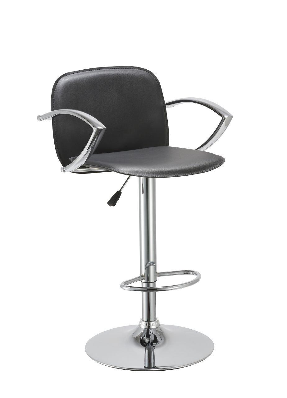 Bar Stool with Backrest Armrest Duhome WY-406 Hydraulic Adjustable Bar chair (Black)