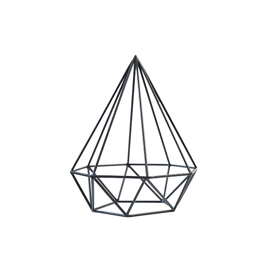 jinxin Minimalist Creative Drapery Wrought Iron Gift Ornaments Geometric Ornaments Cafe Hotel Living Room Home Decorations Lucky Decorations (Size : B)