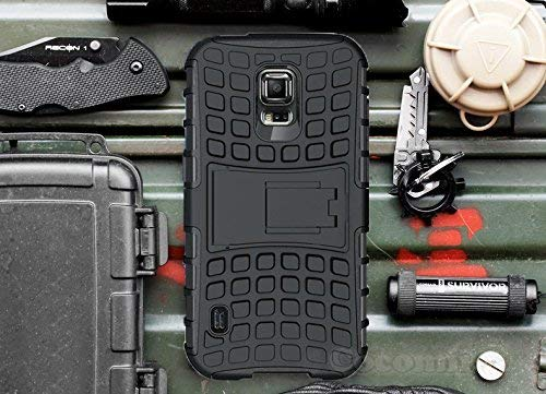 Cocomii Grenade Armor Galaxy S5 Active Case New [Heavy Duty] Premium Tactical Grip Kickstand Shockproof Bumper [Military Defender] Full Body Rugged Cover for Samsung Galaxy S5 Active (G.Black)