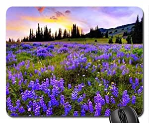 Field of flowers mauve Mouse Pad, Mousepad (Fields Mouse Pad)