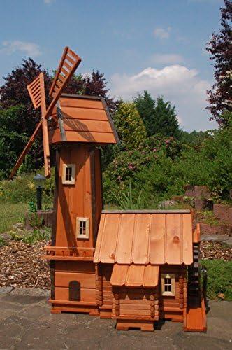 kugelg aus Holz für den Garten *Windmühle mit integrierter Wassermühle impräg