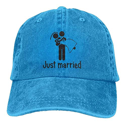 Cowboy DEFFWB Denim Men for Adult Sport Cowgirl Just Married Skull Cap Women Hat Hats HHSrw