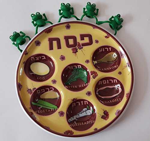 UPC 786471918975, Bulk 10 Pack Passover Seder Plate * BONUS* Comes with 5 Green Finger Frogs as pictured