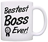 Boss Gifts Bestest Boss Ever Best Manager Gifts Office Gift Coffee Mug Tea Cup White