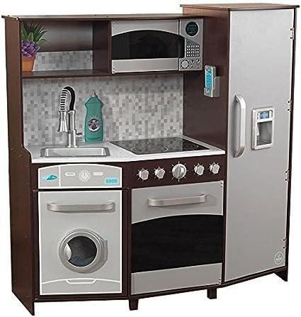 Amazon Com Kidkraft Cocina Con Luces Y Sonidos Grande Espresso Toys Games