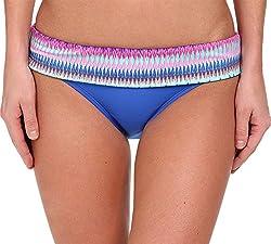 Ella Moss Women's Festival Retro Pant Multi Swimsuit Bottoms XS