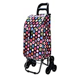 YD trolley Shopping Travel Cart/Advanced Shopping Cart/Trolley/Ascending Stairs Shopping Cart/Supermarket Shopping Bearing Wheel Lever @ (Color : 2)