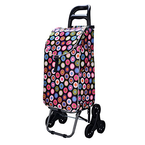 YD trolley Shopping Travel Cart/Advanced Shopping Cart/Trolley/Ascending Stairs Shopping Cart/Supermarket Shopping Bearing Wheel Lever @ (Color : 2) by YD trolley