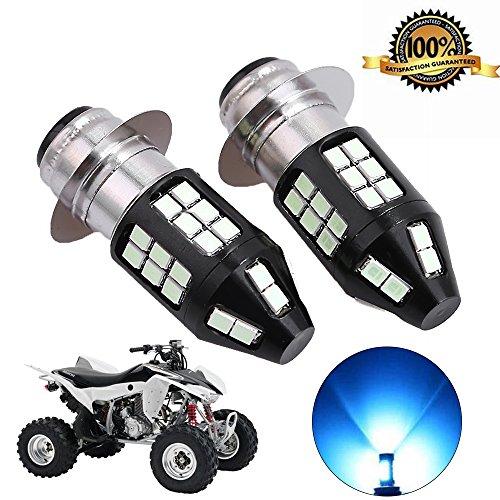 (8000K Ice Blue H6 LED Headlight Bulbs for ATV Honda TRX Kawasaki Bayou Suzuki LT300 Yamaha Grizzly and More (Pack of 2))