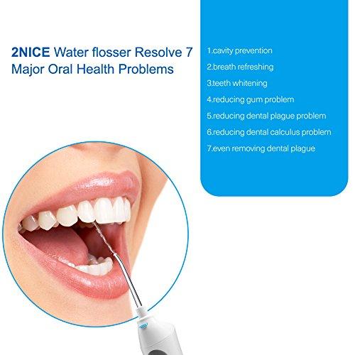 2nice water flosser ipx7 waterproof oral irrigator dental flosser 3 mode rechargeable battery. Black Bedroom Furniture Sets. Home Design Ideas