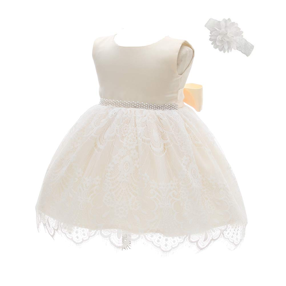 457067483ba Amazon.com  Moon Kitty Baby Girls Baptism Dresses Christening Special  Occasions Gown for Baby Girl with Beautiful Belt  Clothing