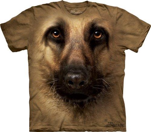 The Mountain German Shepherd Face Tan T-Shirt