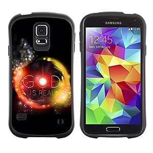 Suave TPU GEL Carcasa Funda Silicona Blando Estuche Caso de protección (para) Samsung Galaxy S5 / CECELL Phone case / / BIBLE God Is Real /