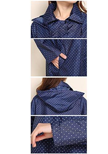 Manteau Avec Poncho Size Imperméable Capuche Blue Capuche Veste Xfentech À One L'eau Mode De À Femmes Décontracté Noir Pluie vwYXqfnp4A