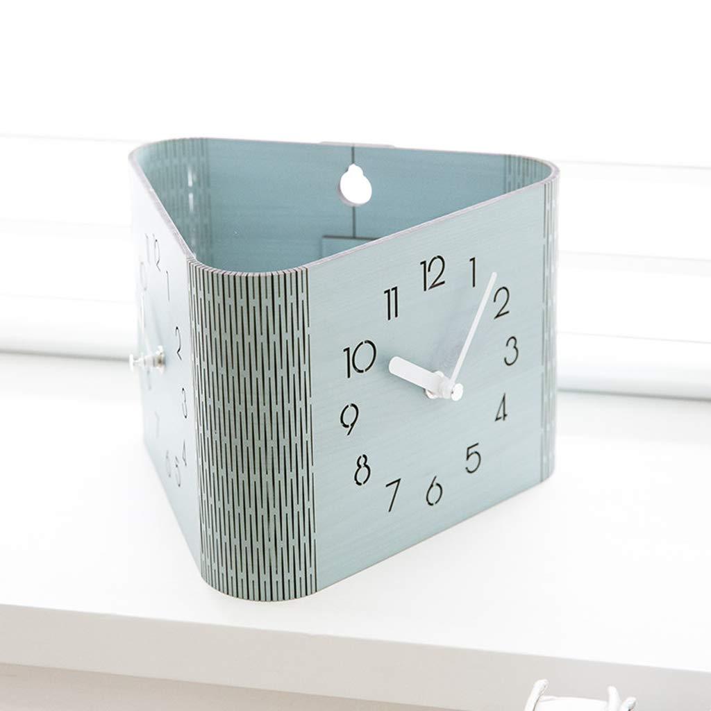 Xq Modern Minimalist Blue Double-Sided Wall Clock Living Room Bedroom Home Clock Digital Deskclock by Xq