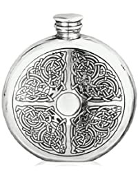 Buy 6oz Celtic Round Flask with Free Engraving dispense