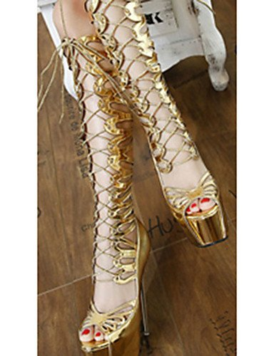 golden PU uk6 Stiletto eu39 uk6 eu39 cn36 5 mujer golden de 5 uk4 Tacones 5 GGX Casual 5 eu36 us6 golden us8 us8 cn40 Zapatos Tacones cn40 Tacón Oro w1ITT8