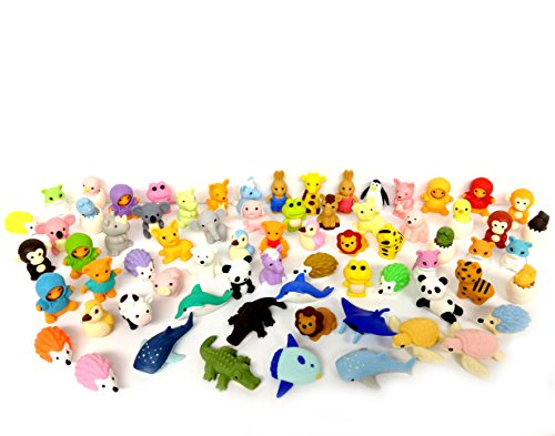 aser, Animal Collection (30 Items Will Be Randomly Selected from Image Shown) (Iwako Erasers)