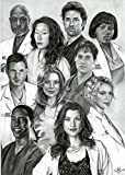 MOTIVATION4U Grey's Anatomy, an American Medical Drama Television Series, Meredith Grey, Cristina Yang, Izzie Stevens 12 X 18 inch Poster
